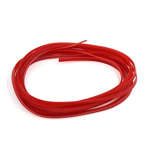 WilTec Gaine annel/ée Non Fendue 5m /Ø6,5mm int/érieur et /Ø10mm ext/érieur Anti-martre Tube C/âble Isolant