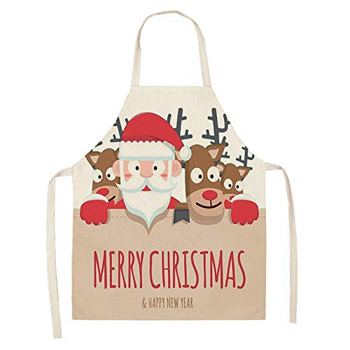 ZLOVELIFE 1 grembiule natalizio Babbo Natale pupazzo