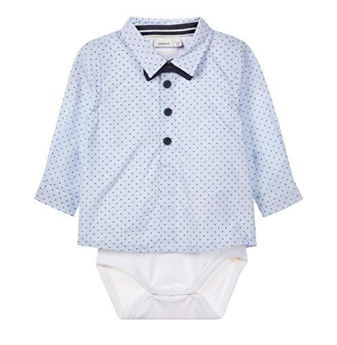 NAME IT Baby Jungen Hemd-Body mit Fliege Taufhemd NBMRUSK, Größe:62, Farbe:Dark Sapphire