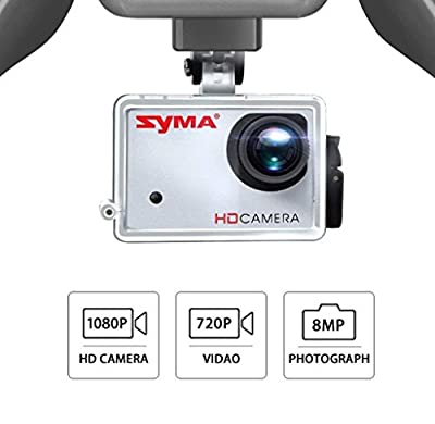 Spatial Element Syma X8HG 8.0MP HD Camera RC Quadcopter With Barometer Set Height And Headless Mode 8.0MP Large Unmanned Remote Control Aircraft