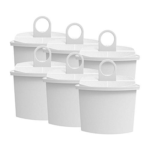AquaCrest AQK-12 Kompatibler Kaffeemaschinen Wasserfilter Ersatz für Braun Brita KWF2; Aroma Select KF130, KF140, KF145, KF147, KF150, KF155, KF160, Aroma Passion KF550, KF560, KFT150, KK148 (6) - Für Kaffee-filter Braun