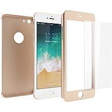 Funda iPhone 6s 360 Integral Para Ambas Caras + Protector de Pantalla de Vidrio Templado, Mobilyos® [ 360 ° ] [ Oro ] Case / Cover / Carcasa iPhone 6s / 6