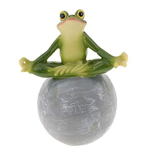 WDDqzf ornamentSkulptur Dekoration Frosch Harz Dekor Handbemalt Frosch Post Garten Statue Rasen Ornament DIY Geschenk - Lesebuch, A-Yoga
