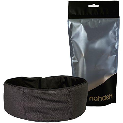 nahdeh bruisebelt-Hip Schutz für Volleyball, Basketball, Fußball und andere Kontaktsportarten-Easy Slide am Gürtel, Bruise Belt, schwarz -