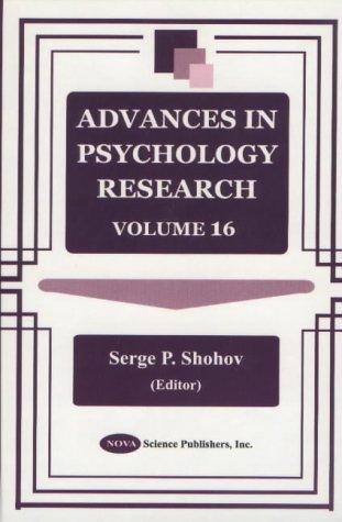 Advances in Psychology Research: v. 16