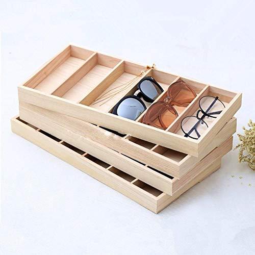 Fuitna Brille Aufbewahrungsbox Brillen Display Organizer Sonnenbrille Aufbewahrungskoffer Brillen Display Box Benutzerdefinierte Holzkiste Haushalt Schublade Organisatoren