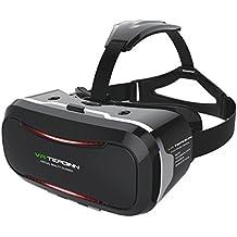 Tepoinn Casque VR Lunettes 3D Réalité Virtuelle Compatibles avec iPhone 8 7 6 Samsung Galaxy S8 S7 S6 Huawei Sony LG avec l'écran 4,0-5,7 Pouces Lunette 3D VR Casque Réalité pour Films Jeux Vidéo