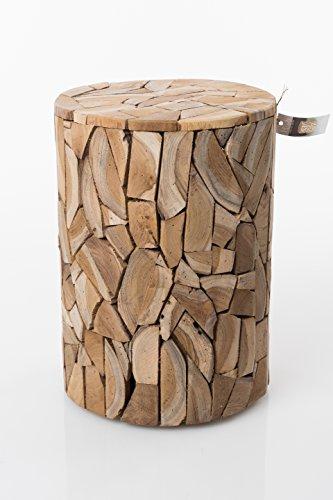 Holzhocker aus Holzscheite J140 Hocker Sitzhocker Holz