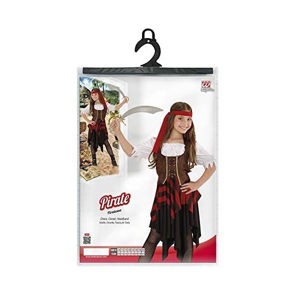 WIDMANN Piratessa Vestito Corsetto Fascia Per Testa Costumi Completo Bambino 417 2 spesavip