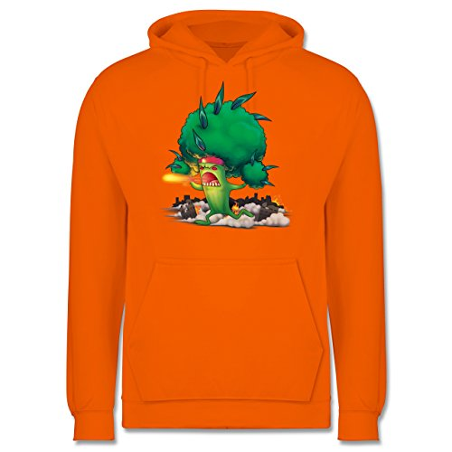 Comic Shirts - Brokkoli Monster - Männer Premium Kapuzenpullover / Hoodie Orange