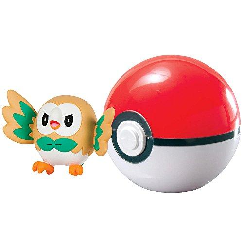 Pokemon ROWLET con POKE BALL Clip 'n' Carry SET Figura e Pokeball