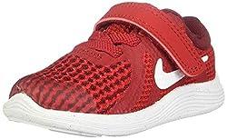 Nike Unisex-Kinder Revolution 4 (TDV) Laufschuhe, Rot (Gym Red/White-Team R 601), 25 EU