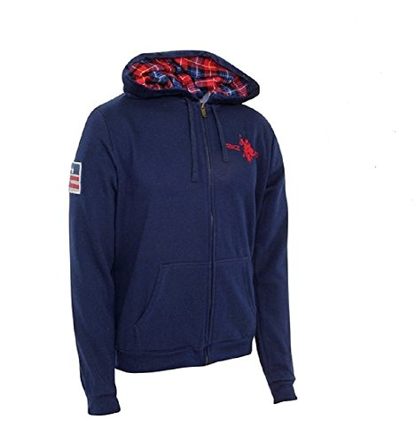 U.S. Polo ASSN Hoody Sweatjacke mit Zip Marine - L (Us Polo By Ralph Lauren)