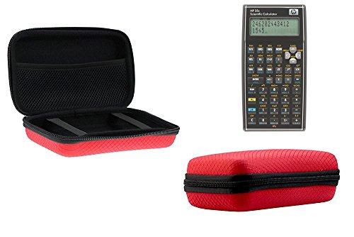Navitech Rot Schock Sicher EVA Schutztasche / Abdeckung / Fall / Gehäuse für Hewlett Packard HP35S Scientific Calculator
