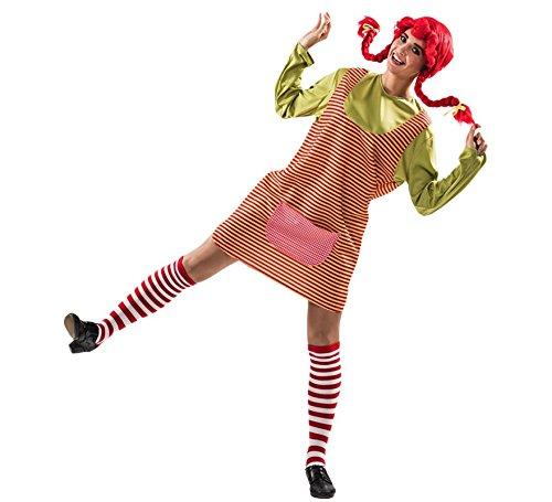 Costume da Pippi Calzelunghe a Righe per donna M