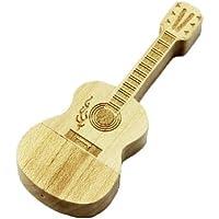 Real Wood chitarra, Penna USB Flash Drive 8 GB, Memory Stick dati, Pendrive, colore: marrone