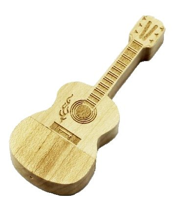 USB Stick Guitarra madera 32 GB – USB Stick - Memory Stick - Pendrive USB de madera, color marrón