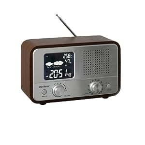 clip sonic ra1045 radio r veil vintage am fm station m t o aux high tech. Black Bedroom Furniture Sets. Home Design Ideas