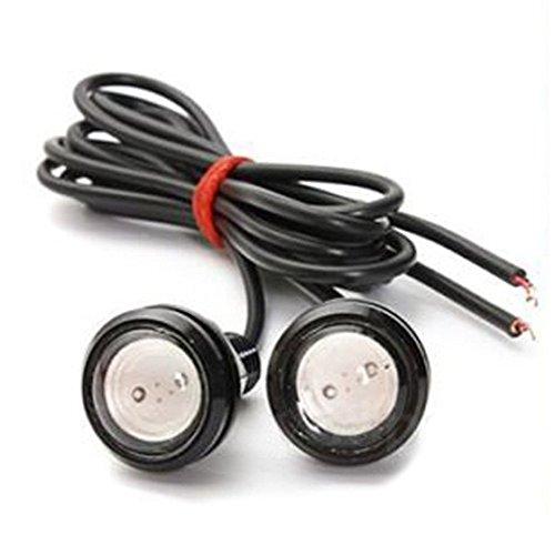 REFURBISHHOUSE 10 x 12V 1.5W LED Feu de Jour Lumiere d'Oeil d'Aigle feu Arriere DRL Lampe de Secours pour Auto Moto Vert
