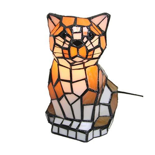 QYQ Tiffany Europäisches Beleuchtungshaus LED Kreative Tiger Style Tischlampe Persönlichkeit...