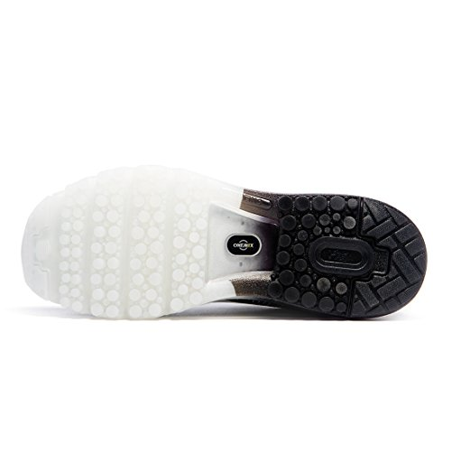 ONEMIX Air Scarpe da Ginnastica Corsa Basse Uomo Sportive Running Sneaker Nero