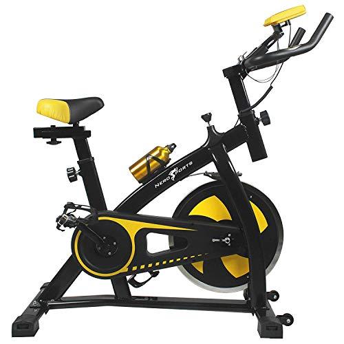 41GKF6RlWjL. SS500  - Nero Sports Upright Exercise Bike Indoor Studio Cycles Aerobic Training Fitness Cardio Bike
