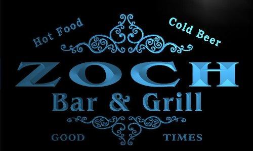 u49872-b ZOCH Family Name Bar & Grill Home Decor Neon Light Sign Barlicht Neonlicht Lichtwerbung