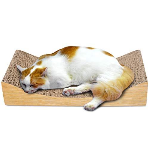 Cvthfyky Katze Wellpappe U-förmige Sofa Grabber Cat Scratch Board (Color : Light wood grain pillow) Grabber-board