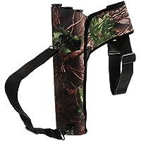 Homyl 3 Tube Archery Target Quiver Hip Quiver Back Quiver, Arrow Holder Waist Shoulder Bag with Adjustable Belt