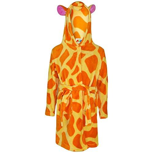A2Z 4 Kids Mädchen Jungen Bademantel Kinder Tier Weiche - Bathrobe Amber Giraffe 2-3
