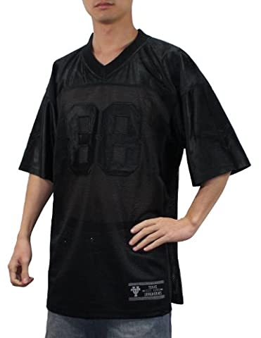 NCAA #88 Texas Longhorns Herren Athletic Mesh Kurzarm-Jersey-Hemd Medium schwarz