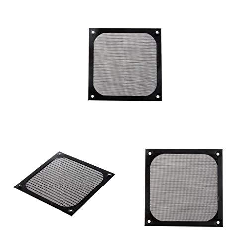 Homyl 3X Computer PC Staubfilter Aluminium Staubdicht für 12cm Gehäuselüfter Lüfter Fall Mesh Ventilator Filter Filterschutz (Computer-ventilator-mesh)
