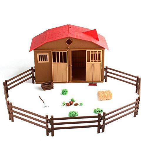 Farm Equipment (Hamkaw 25 StüCk Toy Farm Equipment, Kunststoff Animal Farm Toys, Farm Animal Toy Set, Charmante Kleine Nutztierfiguren Mit Falschen Requisiten, Laub, Besen, GemüSe)