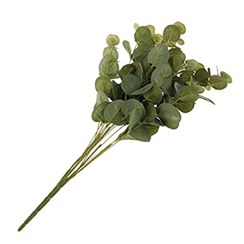 MagiDeal Bouquet Plante Artificielle 15-tête Eucalyptus Feuillage Vert Décoration de Maison Jardin