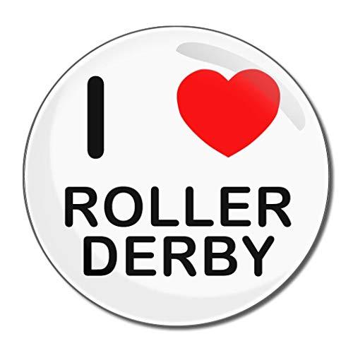 I Love Roller Derby - Miroir compact rond de 77 mm