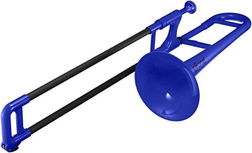 pBone 700639 Posaunen mit Tasche und Mundstück mini blau