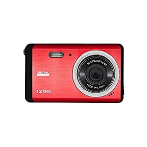 Vmotal GDC80X2 Mini Compact Digital Camera 12 MP HD 3.0 Inch TFT LCD Screen (Red)