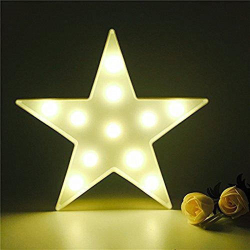 Süße LED Nachtlichter Stimmungslicht Schreibtischlampen Babyzimmer Kinderzimmer Dekorationen Geschenke (Stern, Weiß)