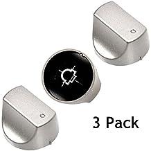 Spares2go hot-ari IX Control interruttore manopole per Hotpoint forno piano cottura (argento, confezione da 3)