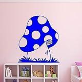 Ajcwhml Pegatinas de Pared de Setas Creativas Pegatinas de Pared Decorativas extraíbles para habitación de niños Pegatinas de Pared Modernas de Moda Azul 58cm X 64cm