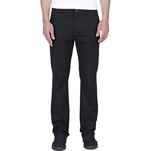 Volcom Frickin Modern Stretch Chino Pant Black (Modern Fit Pant Poly)