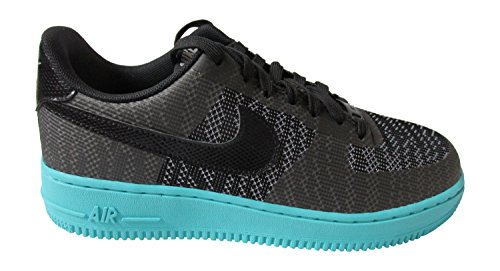 nike s air force 1 07 KJCRD Trainer 718.350 Turnschuhe Schuhe black wolf grey 001