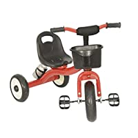 Beehive Kids Trike Red Trike Age 3 Metal Tricycle With Pedals for Toddlers Trike 3 Years