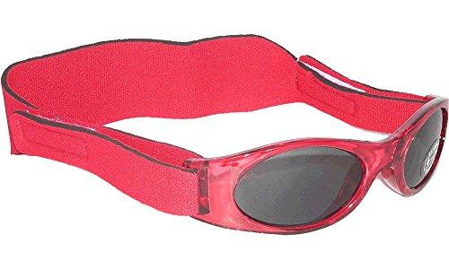Sonnenbrille für Babys unter 2 Jahren - Sunnyz - Mit Kopfband! (rot)