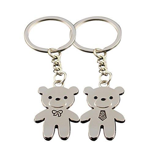 Bigboba 1paio coppia portachiavi con motivo orsetto portachiavi borsetta a car phone accessori 9.3*0.2cm
