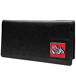NCAA Fresno State Bulldogs Leather Checkbook Cover Packed in Gift Box