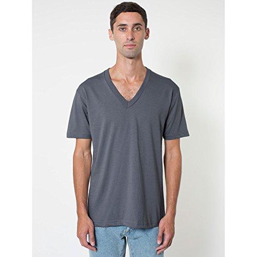 American Apparel Unisex T-Shirt mit V-Ausschnitt, Kurzarm Violett