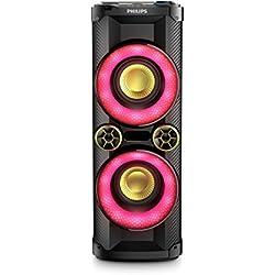 Philips NTX400 Enceinte Bluetooth Colonne avec Lecteur CD, Port USB, LED d'ambiance, NFC, 1000W