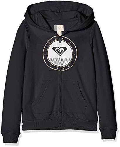 Roxy The Good Side-Sweat à Capuche zippé pour Fille 8-16 Ans Sweatshirt, Anthracite, FR : L (Taille Fabricant : 12)