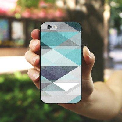 Apple iPhone X Silikon Hülle Case Schutzhülle Muster Abstrakt Grafik Silikon Case schwarz / weiß